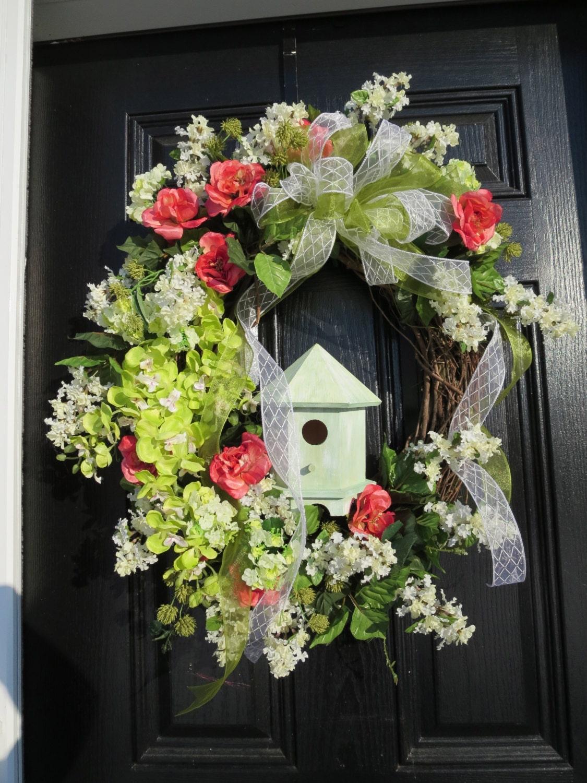 Spring or Summer Door Wreath Door Wreath Spring Summer