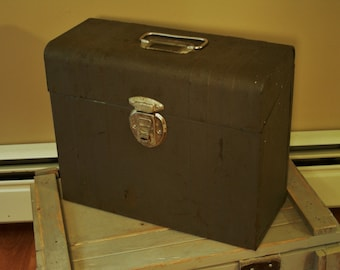Metal File Box, Vintage, Industrial