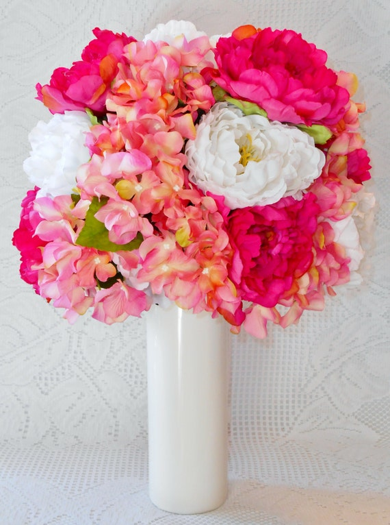 Mother 39 S Day Flowers Pink Hydrangea Fuchsia Pink Peonies