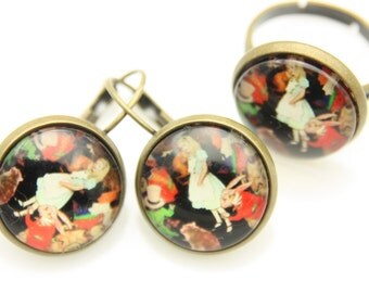 All earrings and ring alice