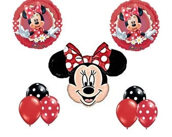 Minnie Mouse Balloon Bouquet  Red