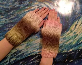 Neapolitan Fingerless Gloves