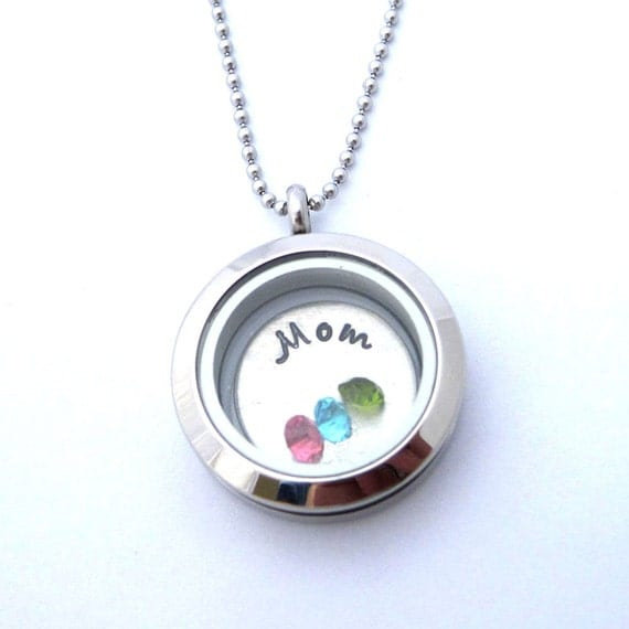 Custom mommy necklace birthstone charm mother s day christmas gift