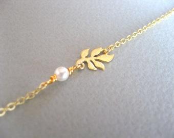 Birthstone Anklet, Gold Anklet Sister Anklet, Gold Leaf Anklet Bridesmaids Jewelry Birthstone Jewelry for Mom, Leaf Bridesmaid Anklet