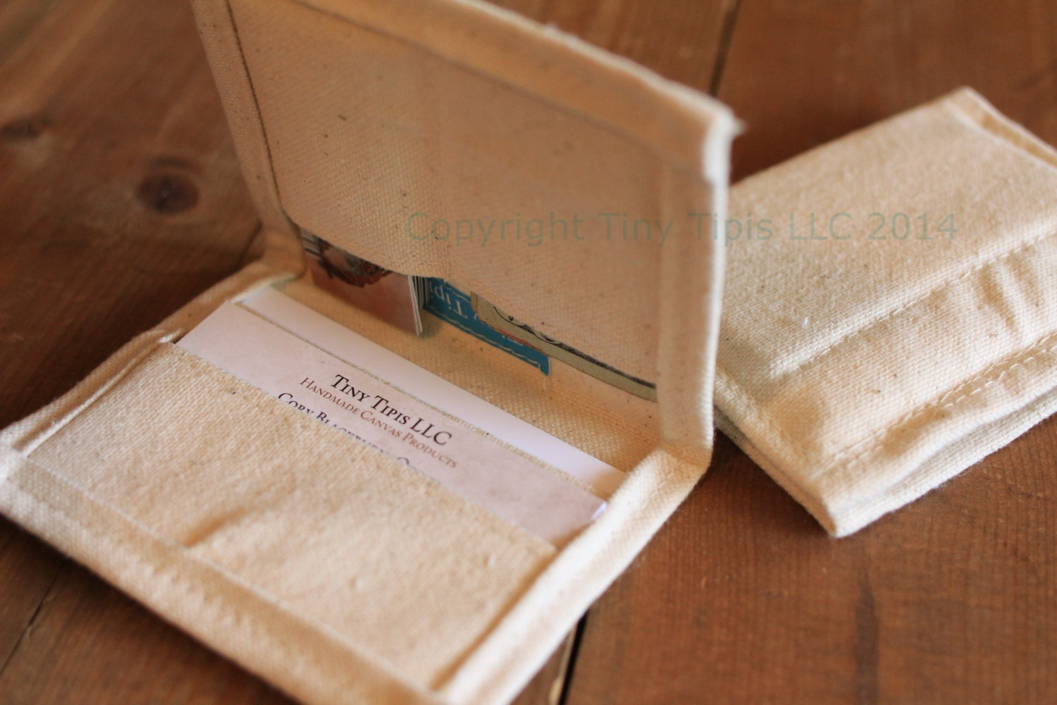 Pocket Organizer or Business Card Holder by TinyTipis on Etsy