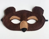 CHILD Felt Grizzly Bear mask Halloween costume Photography prop