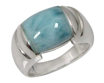 Larimar Ring. 25% OFF! on this Sterling Silver Larimar Ring. Available in US Ring Sizes 5 - 12.