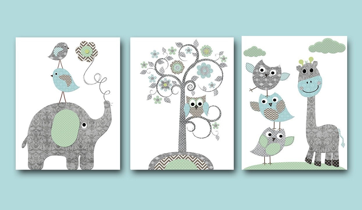 Baby boy nursery wall decor