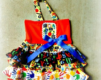 OTT, Pageant Wear, Party  Back to School Boutique Style size Ruffle dress 6, 12 24 months, size 2 3 4 5T