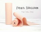 """Wool Felt Roll - 100% Wool in color PEACH BLOSSOM - 5"""" x 36"""" Wool Felt Roll - Craft Felt - Merino Wool"""