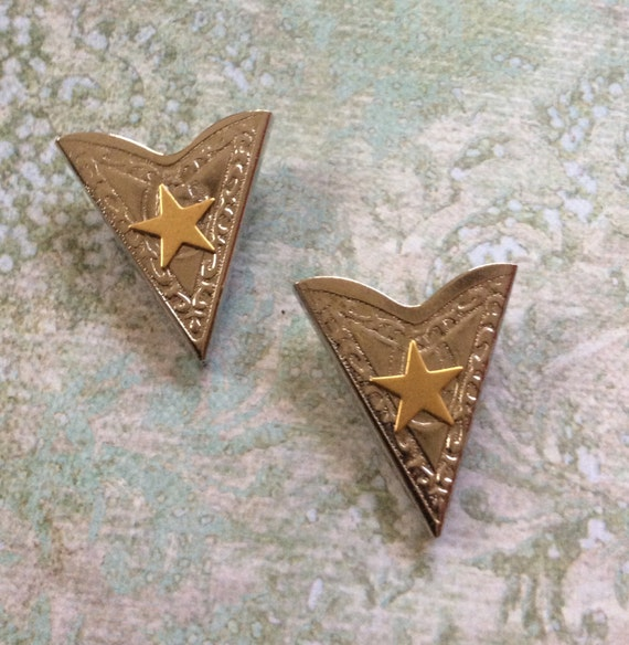 Vintage Wild West Matching Collar Tips