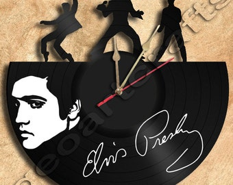 Wall Clock Elvis Presley Vinyl Record Clock home decoration housewares Upcycled Gift Idea