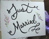 PDF Just Married sign