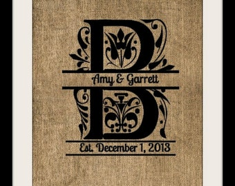 Burlap Personalized Print