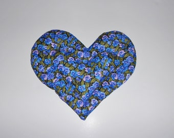 Heart Shaped Microwavable Heating Herbal Wrap / Pack With Flaxseed and Lavender
