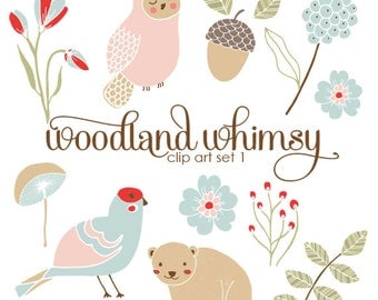 Woodland Whimsy Clip Art Set