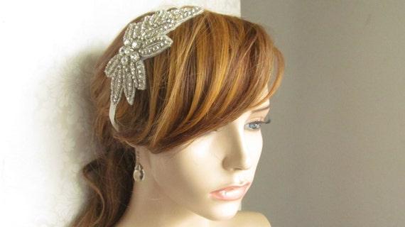 Rhinestone Bridal  Headband --Veronica