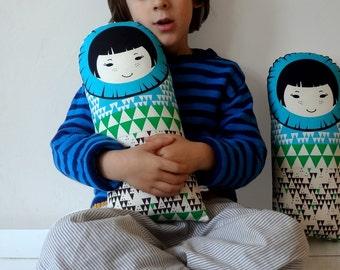 Eskimo child Scandinavian Retro Rag doll cushion triangle cotton north pole Christmas