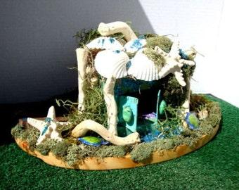 Enchanting ....By The Sea Mermaid Home, Fairy House......Fantasy....OOAK