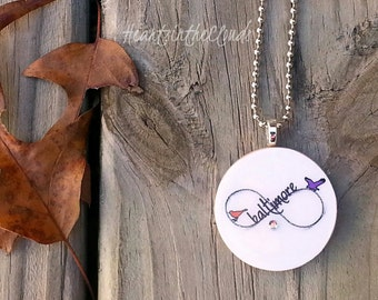 Baltimore Ravens Orioles Inspired Necklace Stocking Stuffers Christmas Gifts Under 20 Crab Shell
