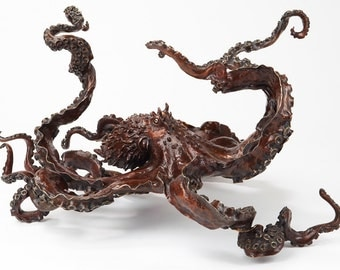 Bronze sculpture octopus or table by order by Kirk McGuire