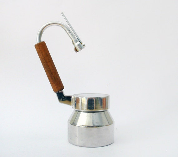 Vintage Italian Stovetop Milk Steamer Coffee Maker by ilivevintage