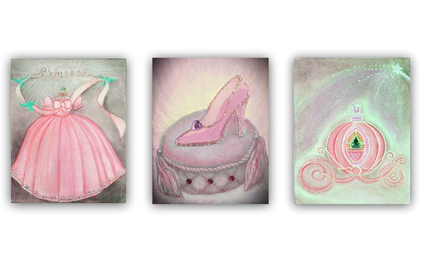 Princess Decor Cinderella Nursery Wall Art Nursery By