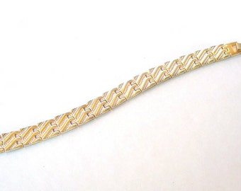 Vintage Gold Silver Tone Bracelet Napier style