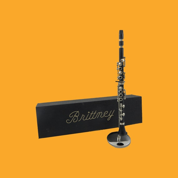 Miniature Clarinet - Personalized - Concert - Band - Gift for Musician (CBCL)