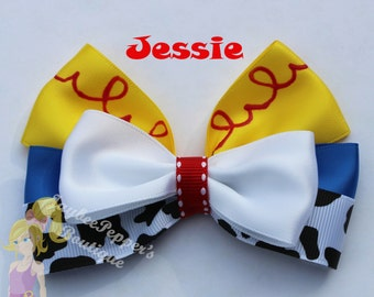 Jessie hair bow Toy Story hair bow disney inspired bow girls cowboy cute toddler