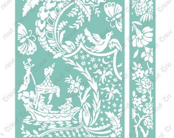 "ANNA GRIFFiN   ""CHINOISERIE   "" -  for  CUTTLEBUg - EMBOSSiNG FOLdERs 5x7 SeT-  NeW"