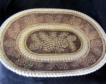 Decoration Dish / Carving from Birch bark....