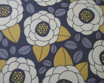 Aviary 2 by Joel Dewberry Bloom in Granite for Free Spirit fabrics 1 yard