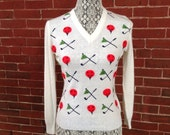 1960's women's golf sweater