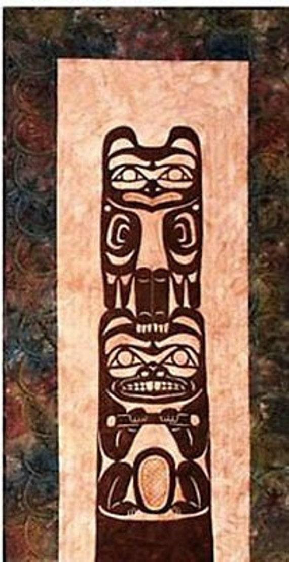 Items Similar To Totem Pole Laser Cut Quilt Kit Applique