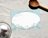 Recipe Card - CINDERELLLA Printable