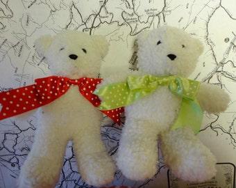 Vintage Stuffed Teddy Bears Set of Two