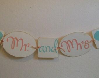 Mr and Mrs. Banner -  Wedding Shower Banner - Wedding Banner-  Wedding Photo Prop Banner