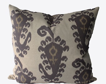 Decorative Designer Taj Ikat, 18x18, 20x20, 22x22 or Lumbar, Throw Pillows