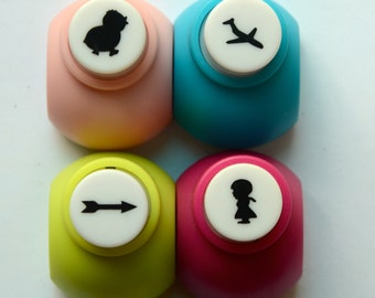 A Set of Mini Paper Punch (Pick 1): Chicken, Airplane, Arrow, Or Girl