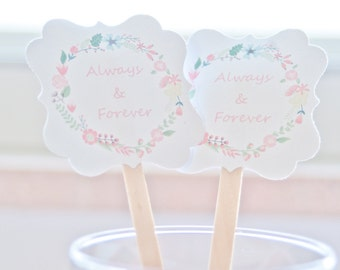 Wedding Drink Stirrers-Stir Sticks-Cocktail Party-Wedding Reception-Signature Drink-Engagement Party-Stir Sticks-Coffee Bar-Set of 50