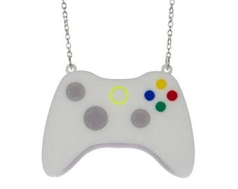 Video Game Controller necklace - laser cut acrylic