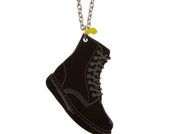 90s Boot necklace - laser cut acrylic