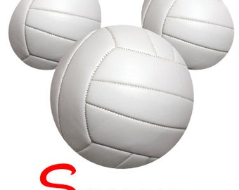 Custom Personalized Mickey Volleyball Iron on Transfer Decal(iron on transfer, not digital download)