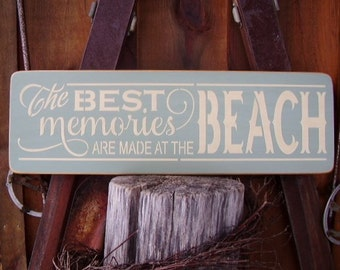 Wood Sign, The Best Memories Are Made At The Beach, Lake, Cabin, River, Farm, Lake House, Handmade, Word Art