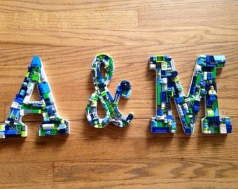 Custom Initials set, wedding letters, toy brick letters