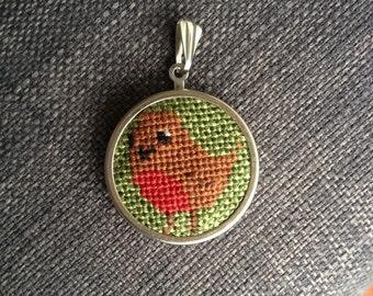 Tiny Robin Pendant
