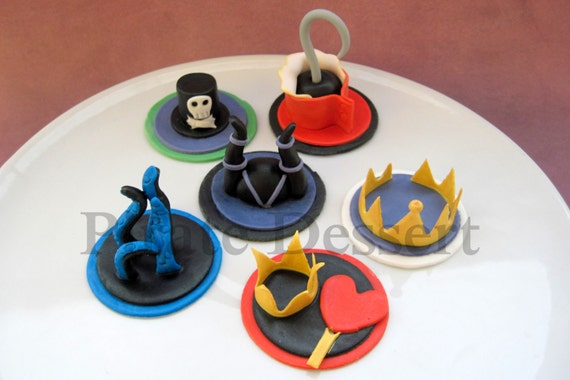 Disney Villains Edible Cupcake Toppers Disney By Piratedessert
