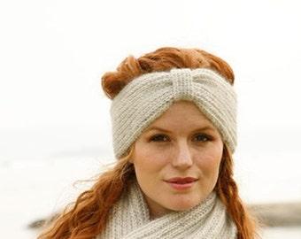 Soft Angora TURBAN Headband, Knit Headband, Knit earwarmer, Turban earwarmer