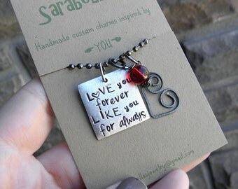 Love you forever, Like you for always Necklace